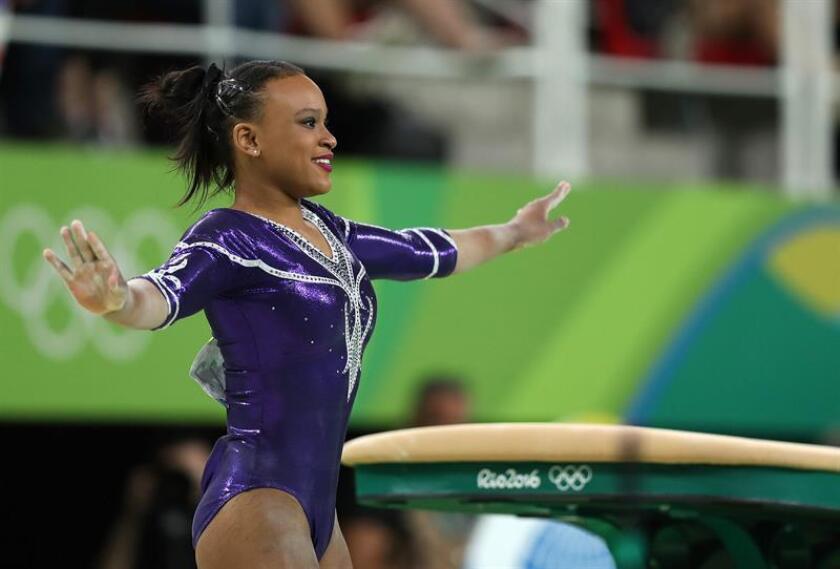 La gimnasta brasileña Rebeca Andrade. EFE/Archivo