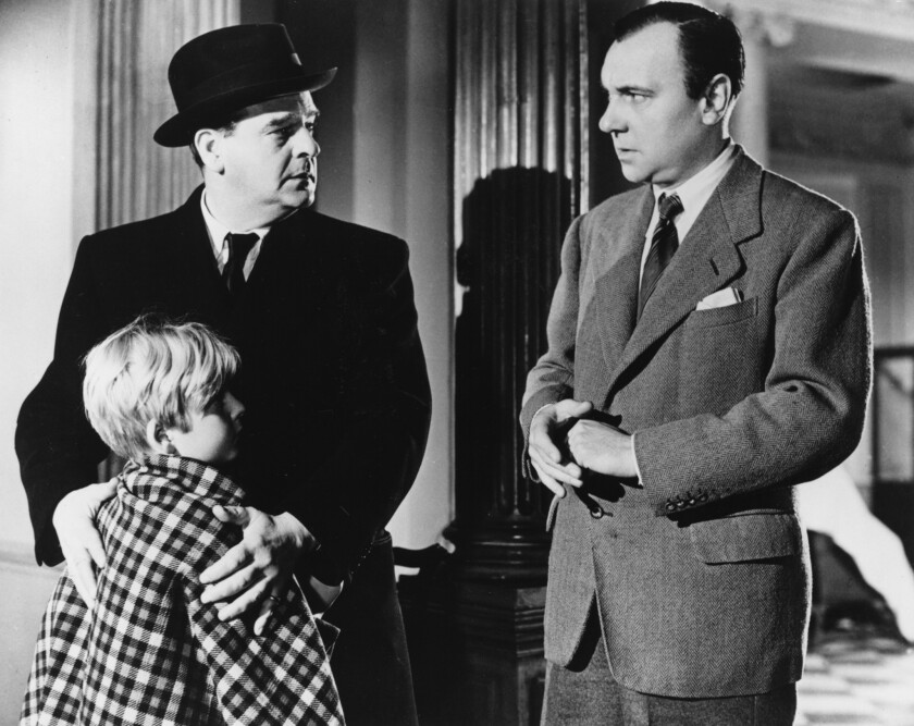 """Young Bobby Henrey, left, Walter Fitzgerald and Ralph Richardson star in """"The Fallen Idol,"""" the 1948 Graham Greene/Carol Reed thriller."""