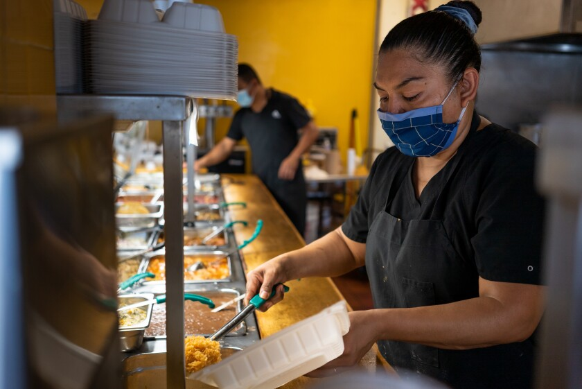 Super Cocina distributes meals to those in need in the community in City Heights.