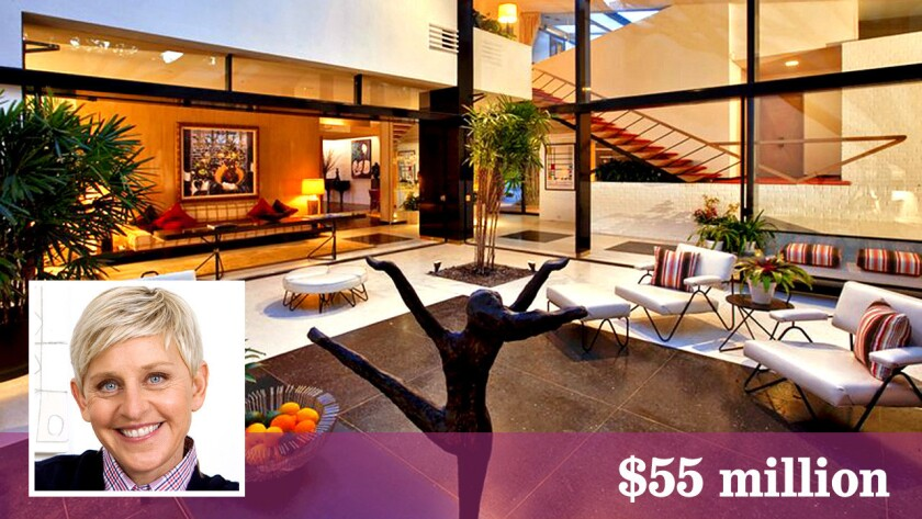 Ellen Degeneres Sells Trophy Home To Tech Billionaire Sean Parker