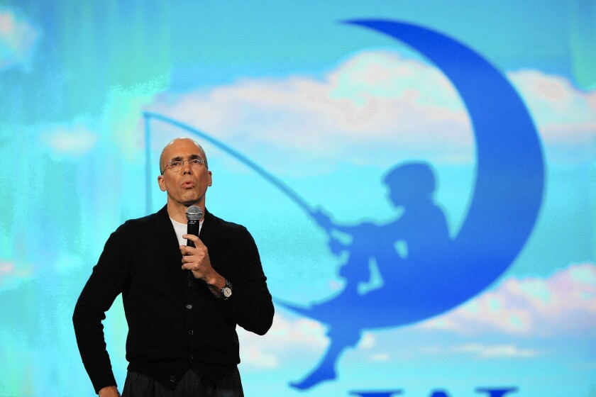 """""""This was not a deal that we needed to do, but it's the deal I'd always hoped would come along,"""" DreamWorks CEO Jeffery Katzenberg, shown here in 2009, told DreamWorks employees Thursday morning."""