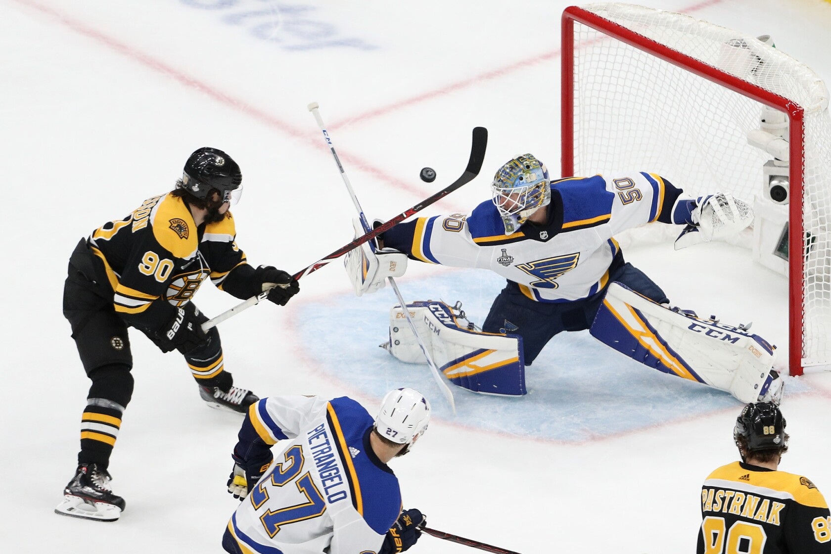 Blues Defeat Bruins In Game 7 To Win Franchise S First Stanley Cup Los Angeles Times