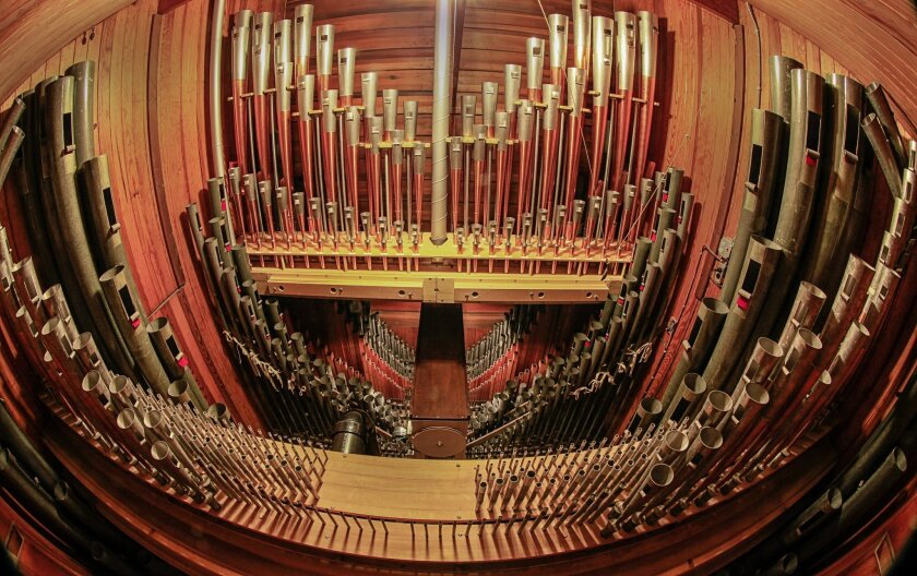 Brothers John D. and Adolph B. Spreckels donated the Spreckels Organ and pavilion to the city of San Diego for the Panama-California Exposition. Built by Austin Organ Co. in Hartford, Conn., as their Opus 453, the instrument had 3,400 pipes in 48 sets, called ranks, at its dedication in 1914. Th