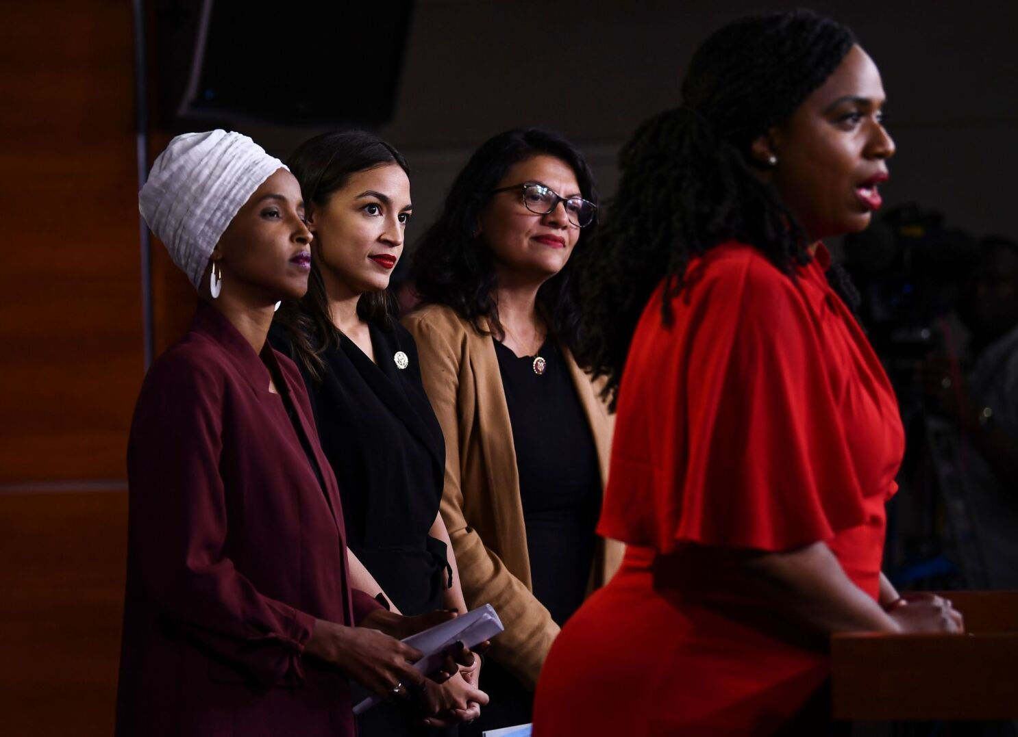 Trump renews attack on minority congresswomen; congressman offers sharp rebuke