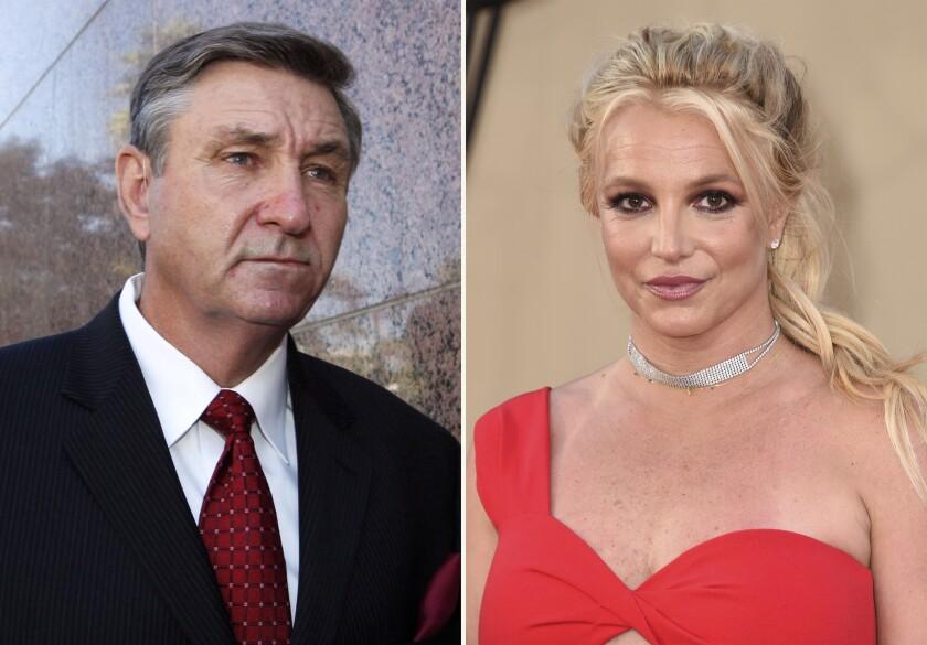 Jamie Spears, padre de la cantante Britney Spears, y Britney Spears