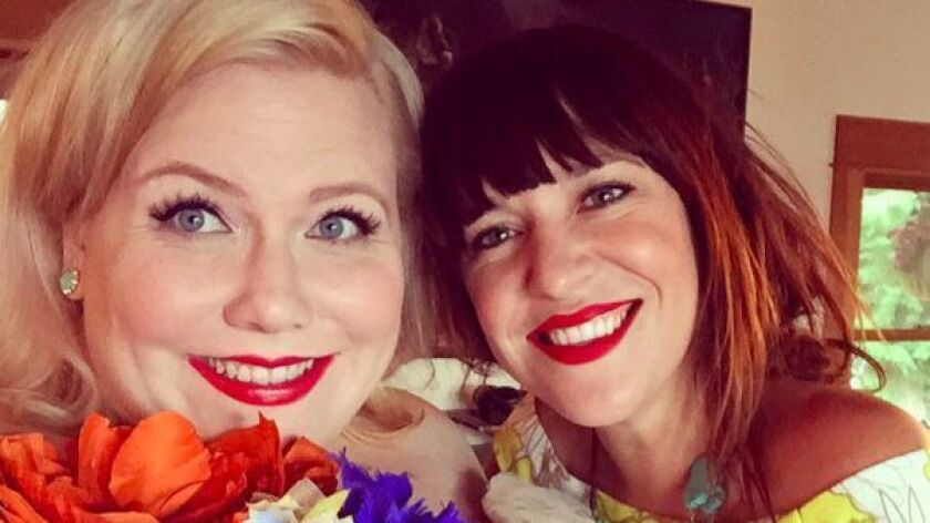 Lindy West, left, and Amelia Bonow are co-creators of #ShoutYourAbortion.