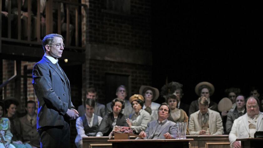 """Jeff Skowron as Leo Frank in 3-D Theatricals presents """"PARADE"""" Cerritos Center for the Performing Ar"""