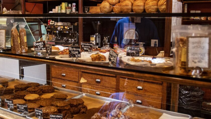 RIVERSIDE, CA - JUNE 22, 2019: Fresh homemade bread and sweets are available at Simple Simons Bakery