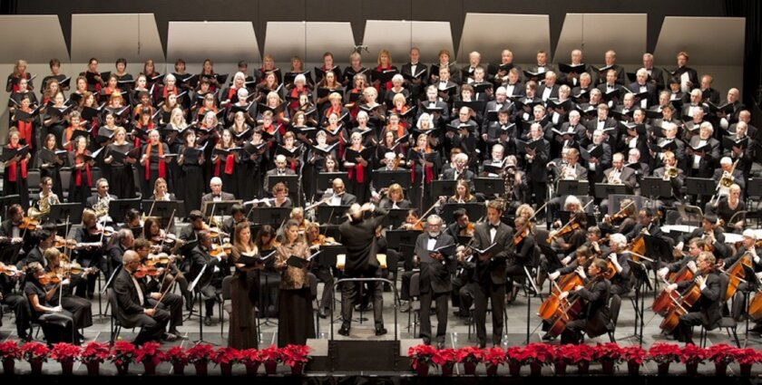 Steven Schick conducting La Jolla Symphony & Chorus.