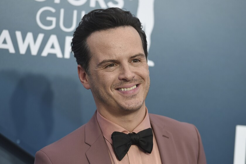 Andrew Scott arrives for the 26th Screen Actors Guild Awards at the Shrine Auditorium & Expo Hall
