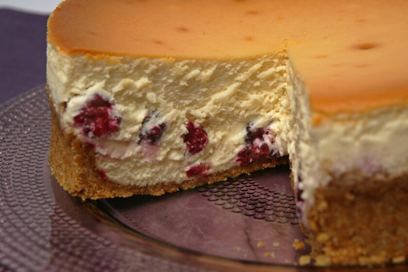 Recipe: Dorie Greenspan's cheesecake.
