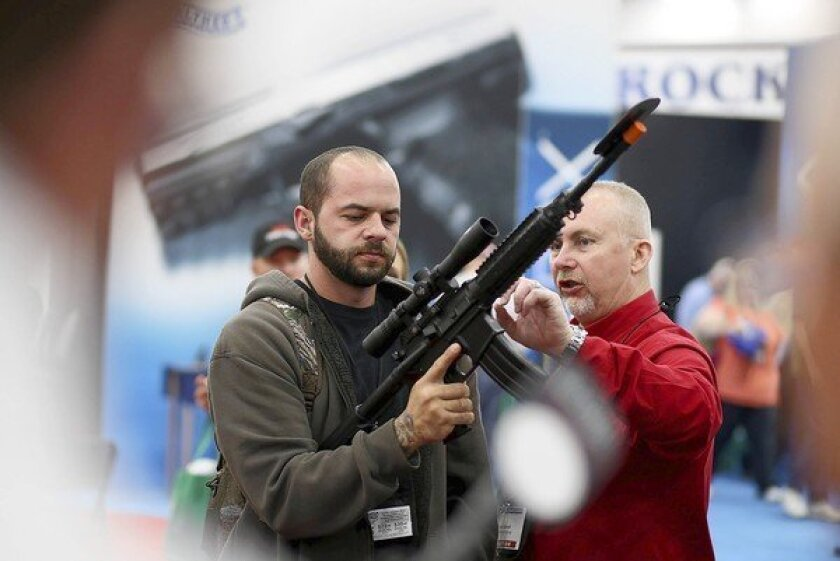 Record crowds were expected at the National Rifle Assn.'s annual convention in Houston.