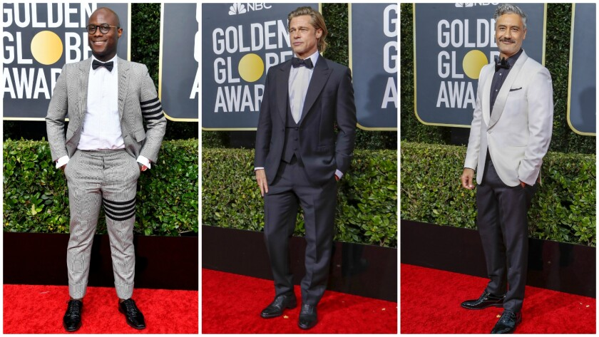 Men in black (and white) at the 2020 Golden Globes