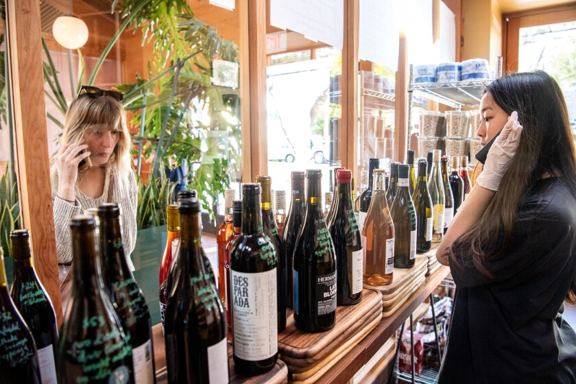 How do L.A. wine shops keep business flowing during a pandemic?