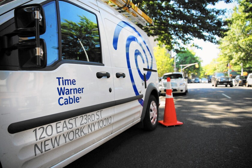 """Time Warner Cable has invested """"more than $427 million in network improvements and reliability,"""" said Dennis Johnson, a TWC spokesman. Above, a TWC truck in Brooklyn, N.Y."""