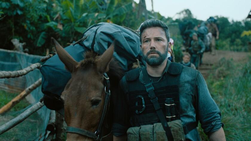 "Ben Affleck (""Redfly"") in a scene from ""Triple Frontier."" Credit: Netflix"