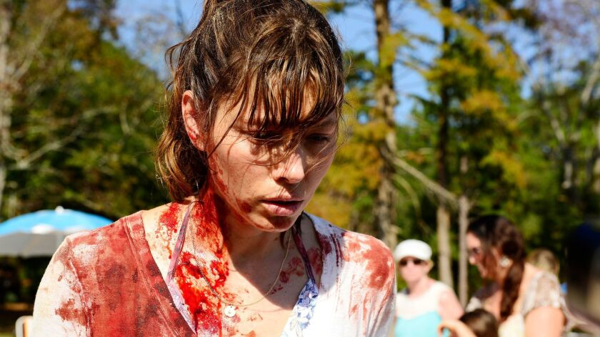"Jessica Biel as Cora in USA Network's ""The Sinner."" Credit: Brownie Harris / USA Network"