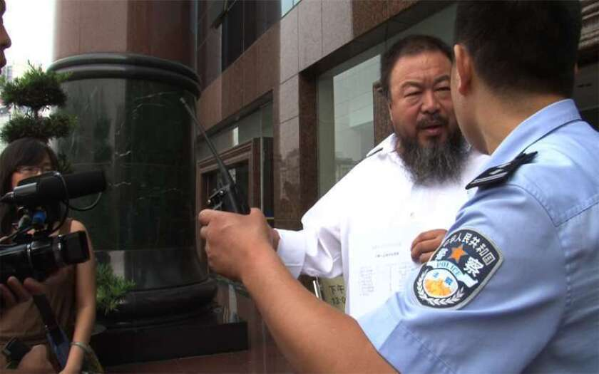 """Ai Weiwei in a scene from the Alison Klayman's documentary """"Ai Weiwei: Never Sorry."""""""