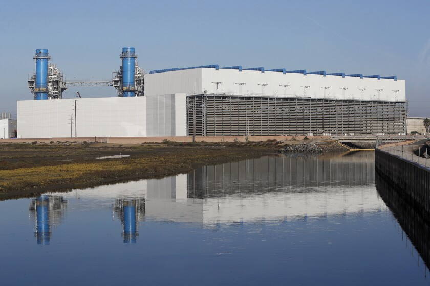 AES' new Huntington Beach power plant is in the commissioning process at Newland Street and Pacific Coast Highway.