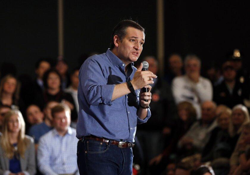 Ted Cruz in West Des Moines, Iowa
