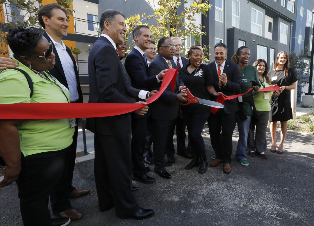 Grand opening for housing for the homeless
