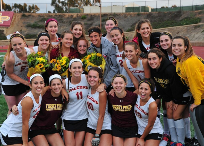 The Torrey Pines field hockey team, Palomar League champs for the second straight year. Photos by Anna Scipione.