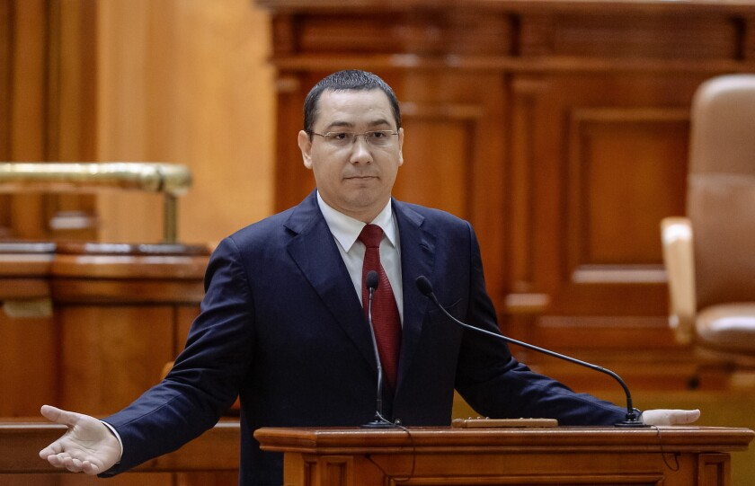 Romania's prime minister Victor Ponta resigned Wednesday after thousands protested a nightclub fire that killed more than 30 people.