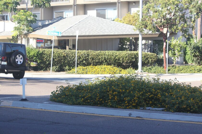 Noticeable yellow plants draw attention to the roundabouts and help drivers maneuver them. Dunbar reported accidents at this location have decreased since the colorful plants were installed.