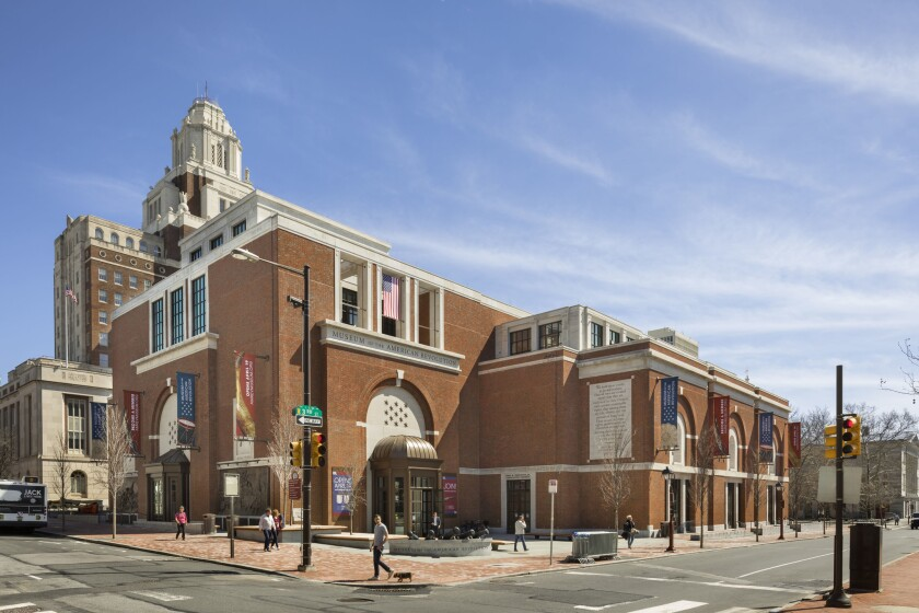 Robert A.M. Stern's new Museum of the American Revolution in Philadelphia, with the U.S. Custom Hous