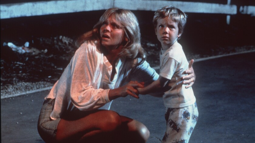"""Melinda Dillon and Cary Guffey in the 1977 science-fiction thriller """"Close Encounters of the Third Kind."""""""