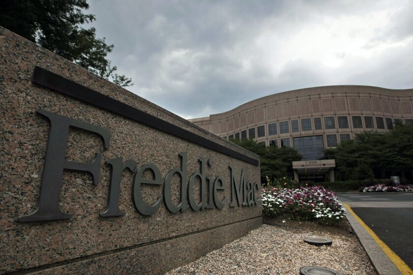 FILE - This July 13, 2008, file photo shows the Freddie Mac corporate office in McLean, Va. Freddie Mac reports quarterly financial results on Tuesday, Nov. 3, 2015. (AP Photo/Pablo Martinez Monsivais, File)