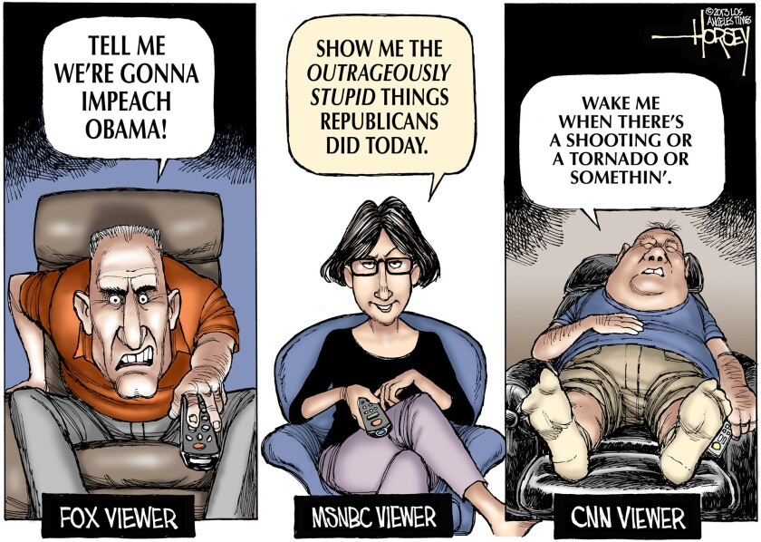 Neither right nor left, the CNN viewer is more interested in national disasters than national affairs.