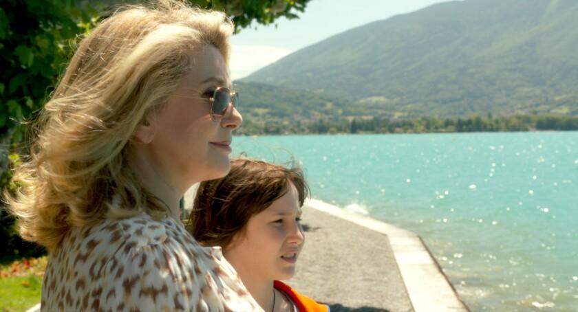 """Catherine Deneuve and Nemo Schiffman in """"On My Way."""""""