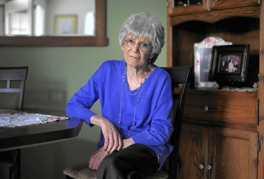 Porter Ranch resident Roberta Cohen, 88, has remained in her home.