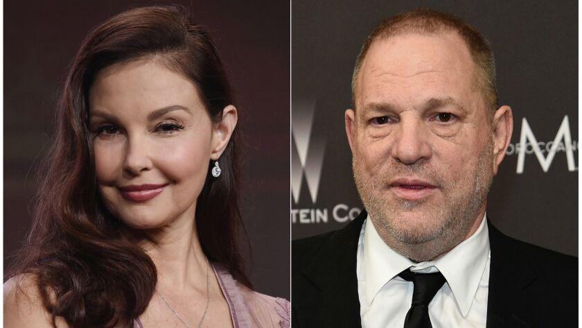 Ashley Judd and Harvey Weinstein.