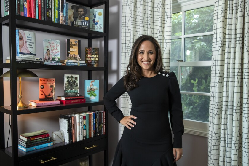 Michelle Weiner, head of Creative Artists Agency's books department, at her home in Los Angeles.