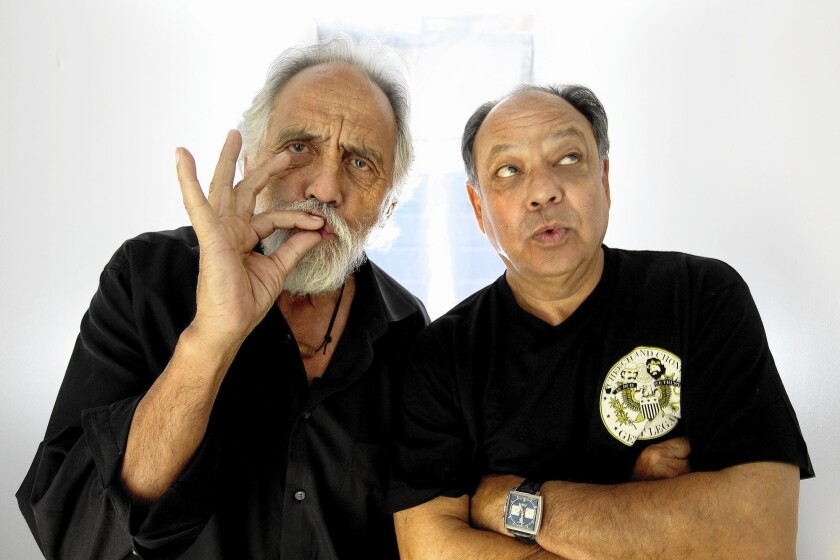 Tommy Chong and Cheech Marin in 2010.