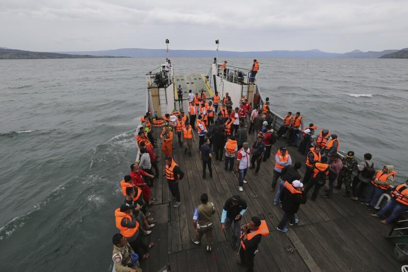 Sunken ferry in Indonesia
