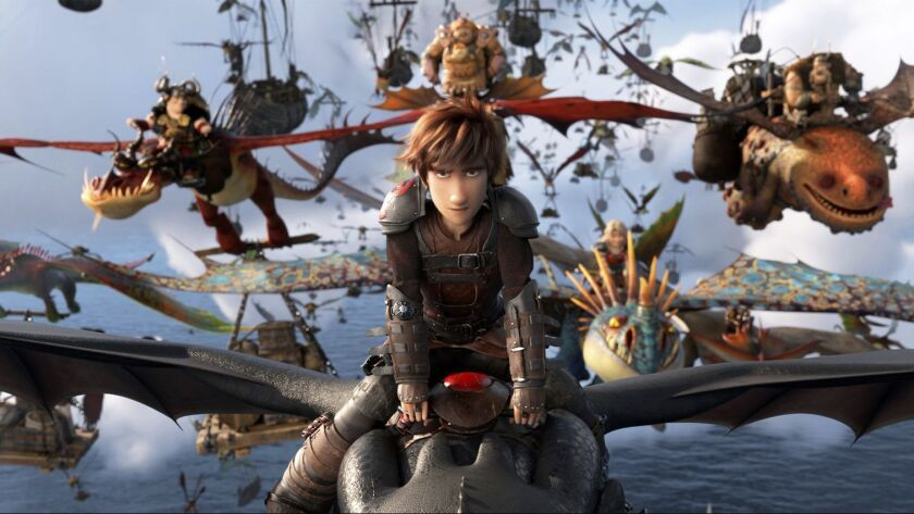 """How to Train Your Dragon: The Hidden World"" is expected to lead the weekend box office with about $40 million."