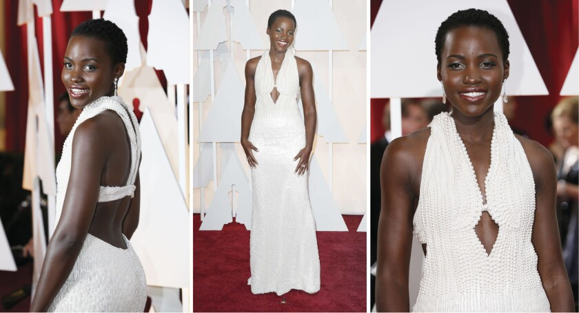 Lupita Nyong'o during the arrivals at the 87th Annual Academy Awards on Feb. 22 at the Dolby Theatre at Hollywood & Highland Center in Hollywood.