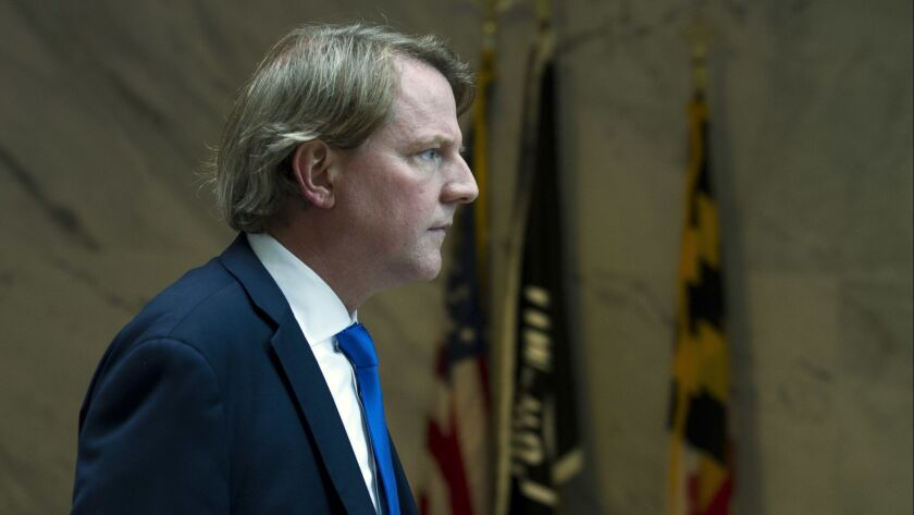 White House Counsel Donald McGahn will step down in the coming weeks, President Trump announced via Twitter.