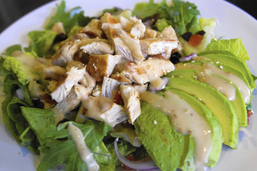 Asian sesame ginger salad at Muscle Maker Grill