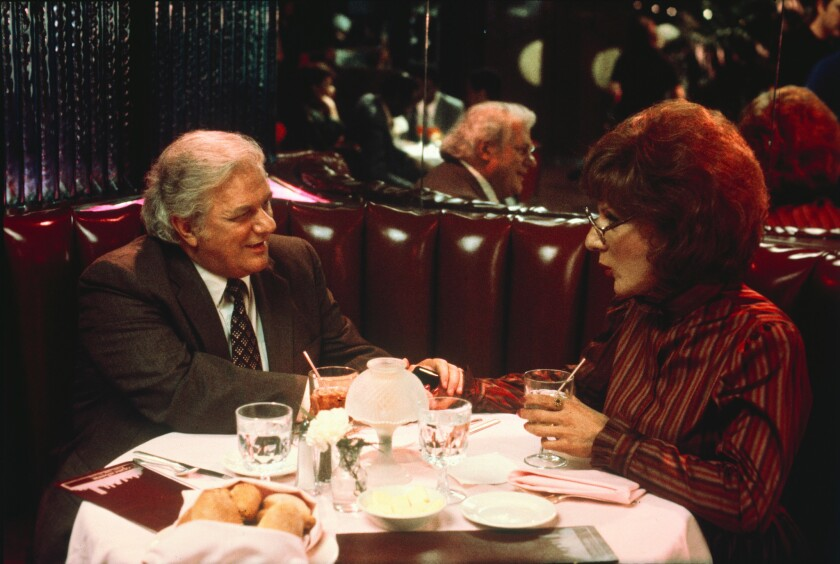 "Charles Durning, left, played a widowed father who became smitten with Dustin Hoffman's Dorothy Michaels in ""Tootsie."""