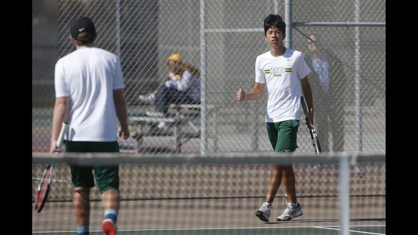 Photo Gallery: Edison vs. Walnut in boys' tennis