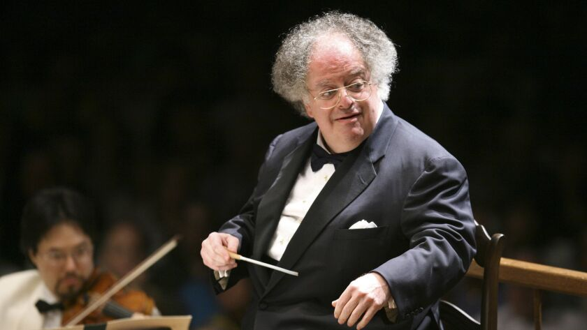 James Levine conducts in Lenox, Mass. on July 7, 2006. On March 15, Levine file suit against the Metropolitan Opera over a sexual-misconduct investigation that sank his storied career.