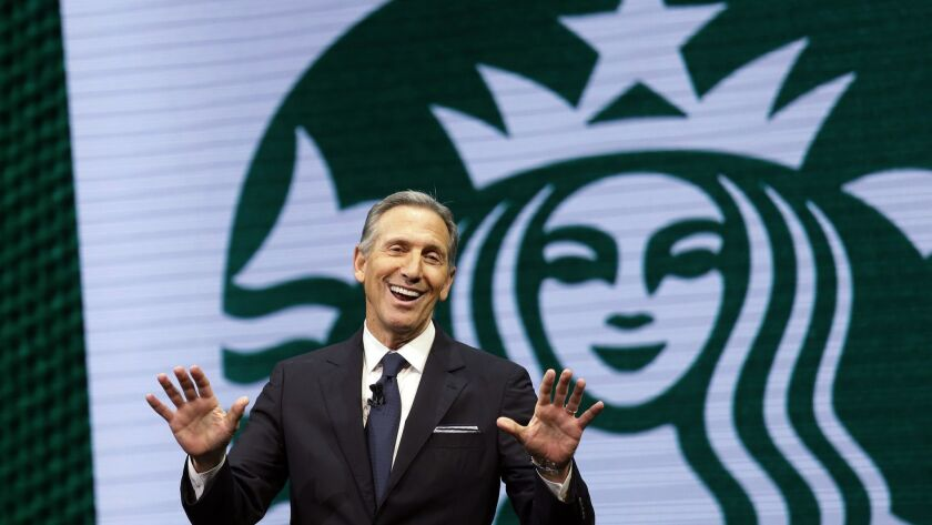 Former Starbucks Chief Executive Howard Schultz is considering running for U.S. president as an independent candidate.