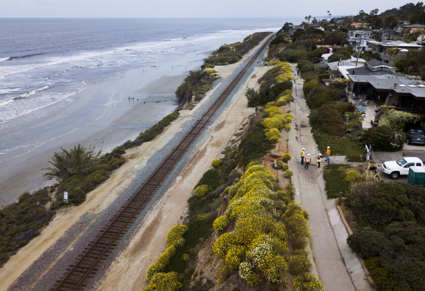 Contractors have completed the latest Del Mar bluff stabilization project, which began in May.