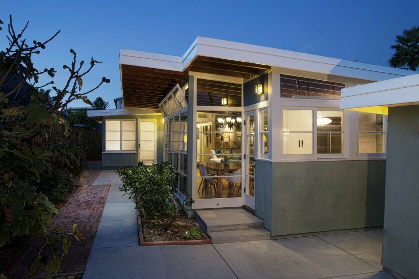 Bird Rock homeowners Anne and Richard Kruse received Save Our Heritage Organisation's Harmonious Addition Award for a historically copacetic kitchen addition to their 1946 William Kesling home.
