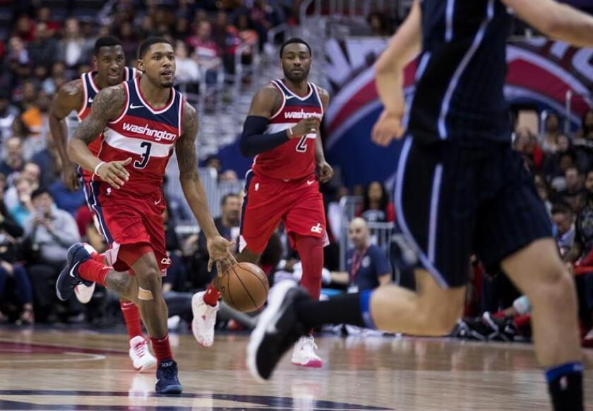 Washington Wizards guard Bradley Beal in action against the Orlando Magic during the second half of their NBA game at the Capital One Center in Washington. EFE