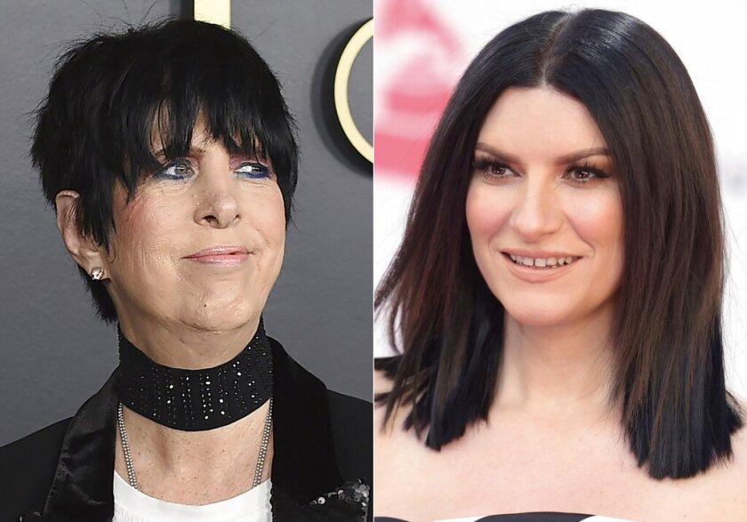 Diane Warren izquierda, y Laura Pausini